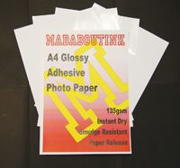 A4 Gloss Adhesive Inkjet Photo Paper 135gsm 50 Sheets Glossy Label