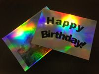 Inkjet Printable Pearlescent Holographic Film 100 Micron A4 5 Sheets